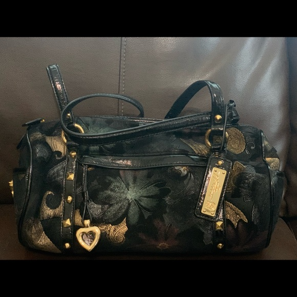 Sharif Floral brocade purse